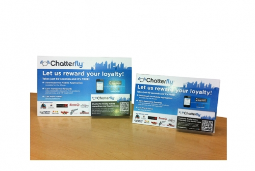 Chatterfly Easel Back Promo
