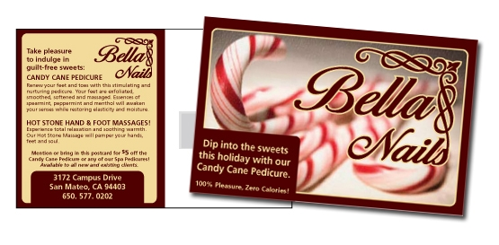 Bella Nails Holiday Promo Postcard