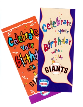 San Francisco Giants Birthday Brochure